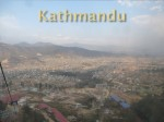 Overlooking the city of Kathmandu