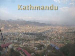 Overlooking the city of Kathmandu